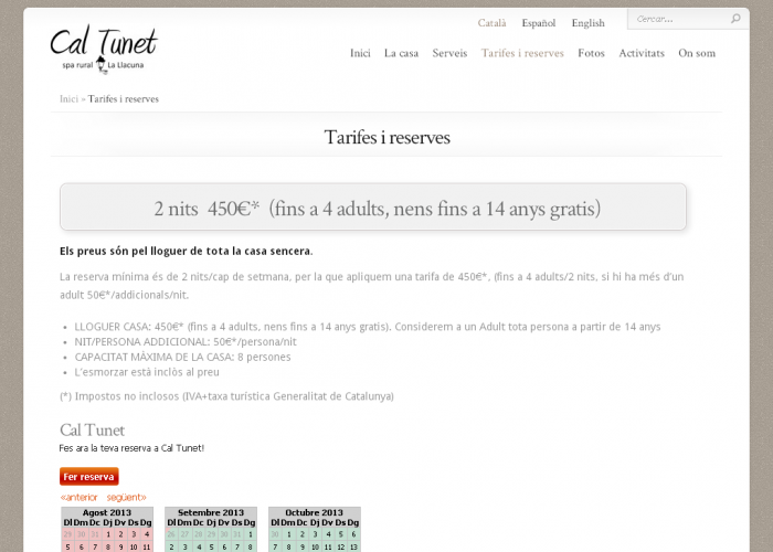 CalTunet_tarifes_screenshot