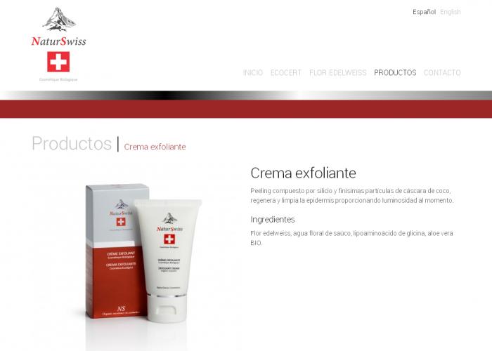 Crema exfoliante Productos NaturSwiss