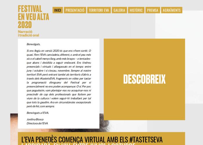 Festival En Veu Alta Inici 2020 En Veu Alta