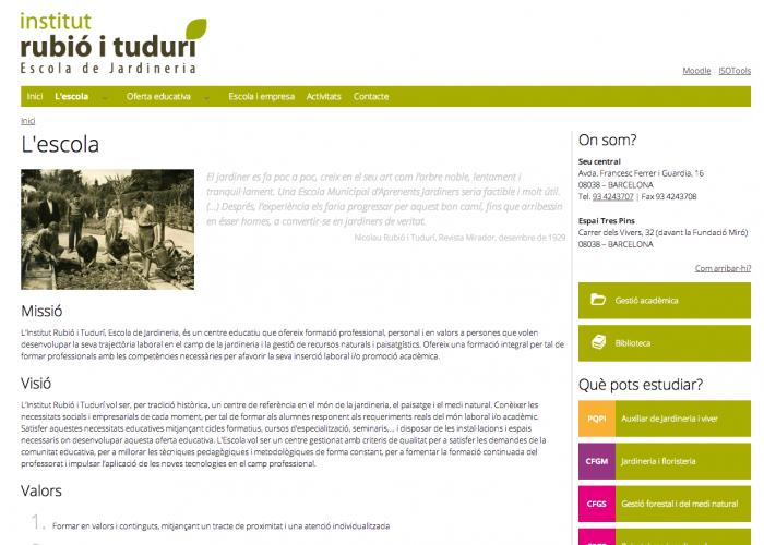 L escola   Rubió i Tudurí