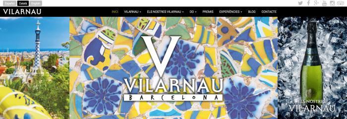 Caves Vilarnau té nova web