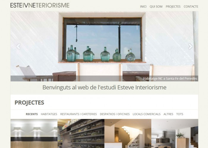 Pàgina principal web Esteve Interiorisme