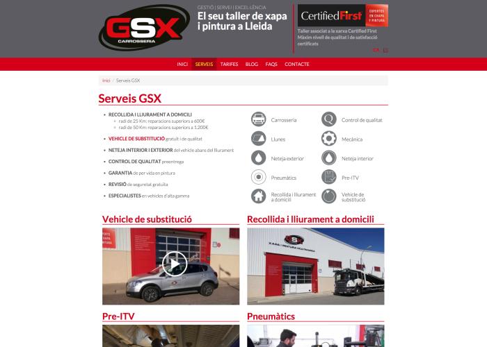 Serveis – GSX – Carrosseria